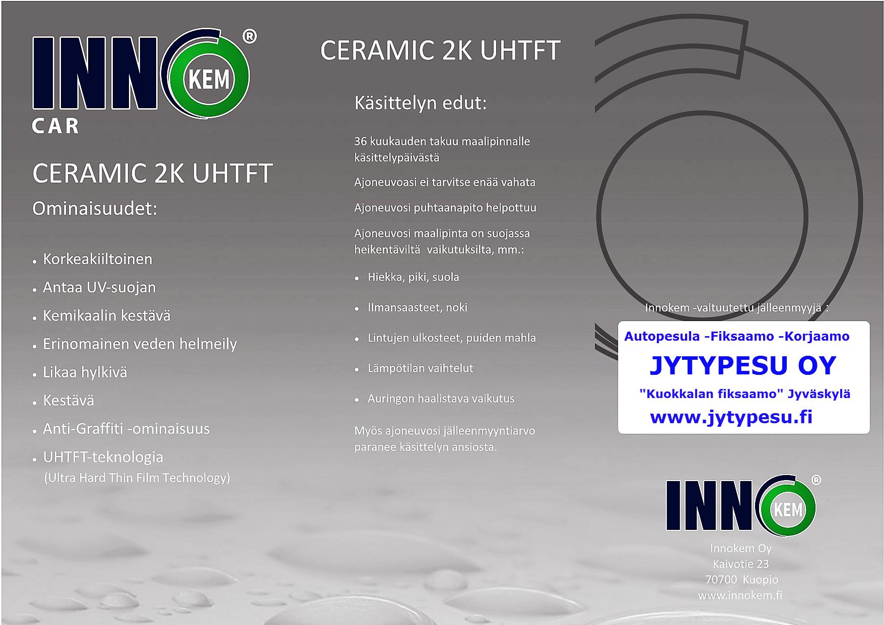 inno car ceramic kestopinnoite | Jyväskylä | keraaminen 9H nano | Jytypesu autopesu