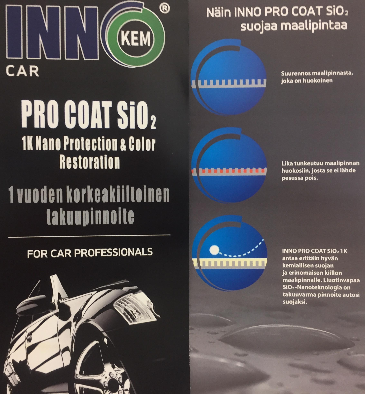inno pro coat Sio2 | keraaminen kestopinnoite