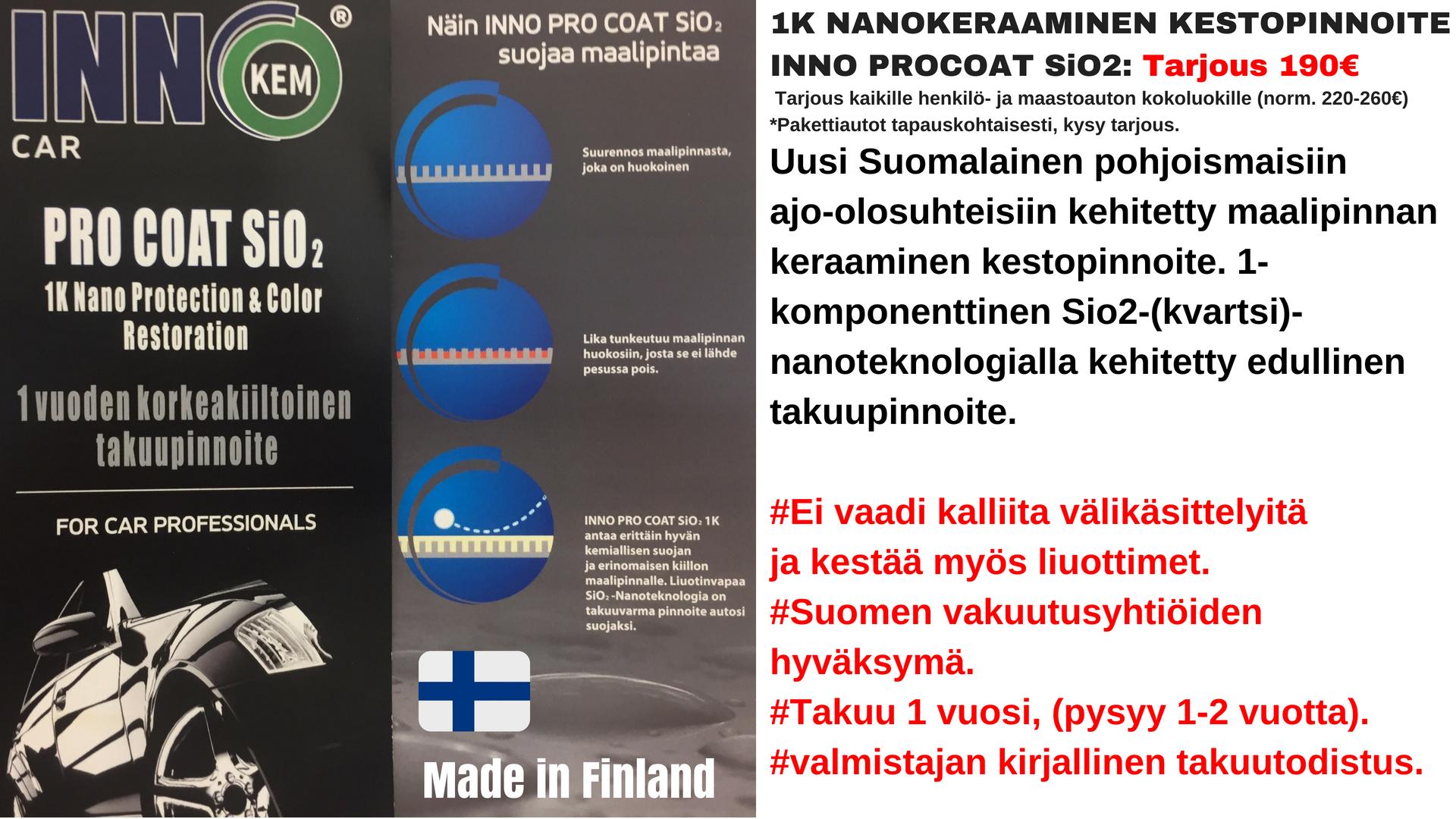inno pro coat sio2 | keraaminen kestopinnoite hinta | Jyväskylä
